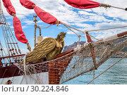 Купить «Image with a sailing vessel», фото № 30224846, снято 8 июля 2017 г. (c) Ирина Толокновская / Фотобанк Лори