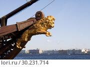 Фигура льва на носу парусника, г. С-Петербург. (2010 год). Редакционное фото, фотограф Александр Демин / Фотобанк Лори