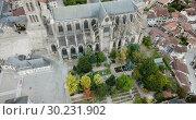 Купить «Famous gothic cathedral in Limoges city in France, Europe», видеоролик № 30231902, снято 26 октября 2018 г. (c) Яков Филимонов / Фотобанк Лори