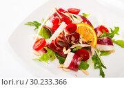 Купить «Salad from duck ham», фото № 30233366, снято 19 июня 2019 г. (c) Яков Филимонов / Фотобанк Лори