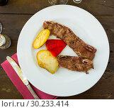 Купить «Delicious pork ribs barbecue», фото № 30233414, снято 12 июля 2020 г. (c) Яков Филимонов / Фотобанк Лори