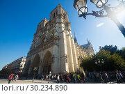 Купить «Notre-Dame Cathedral, Paris», фото № 30234890, снято 10 октября 2018 г. (c) Яков Филимонов / Фотобанк Лори