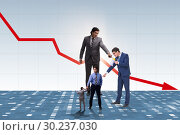 Купить «Businessmen blaming each other for failures», фото № 30237030, снято 17 июня 2019 г. (c) Elnur / Фотобанк Лори
