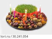 Купить «Tradional azeri khoncha used for the Novruz Holiday celebration on a white background.», фото № 30241054, снято 13 марта 2018 г. (c) easy Fotostock / Фотобанк Лори