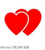 Купить «Two hearts. Web icon», иллюстрация № 30241626 (c) Сергей Лаврентьев / Фотобанк Лори