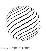 Купить «Abstract striped spheres», иллюстрация № 30241982 (c) Сергей Лаврентьев / Фотобанк Лори