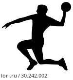 Купить «Handball player in attack», иллюстрация № 30242002 (c) Сергей Лаврентьев / Фотобанк Лори