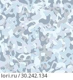 Купить «Seamless snow camouflage», иллюстрация № 30242134 (c) Сергей Лаврентьев / Фотобанк Лори
