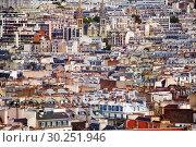 Купить «Roofs of houses and churches Paris downtown», фото № 30251946, снято 16 сентября 2017 г. (c) Сергей Новиков / Фотобанк Лори