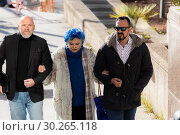 Купить «Lucia Bosé (C) with her relatives entering the Provincial Court of Madrid accused of misappropriation of a drawing by Pablo Ruiz Picasso», фото № 30265118, снято 7 марта 2019 г. (c) age Fotostock / Фотобанк Лори