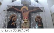 Купить «Iconostasis from the Orthodox Church», видеоролик № 30267370, снято 15 февраля 2019 г. (c) Потийко Сергей / Фотобанк Лори