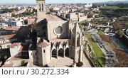 Купить «Collegiate Basilica of Santa Maria in Manresa, Spain», видеоролик № 30272334, снято 9 декабря 2018 г. (c) Яков Филимонов / Фотобанк Лори