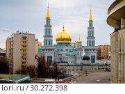 Купить «Москва, Соборная Мечеть», фото № 30272398, снято 27 февраля 2019 г. (c) glokaya_kuzdra / Фотобанк Лори