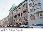 Купить «Красивая архитектура Хельсинки. Финляндия», фото № 30272630, снято 20 сентября 2018 г. (c) E. O. / Фотобанк Лори