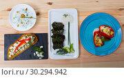 Купить «Collection of Bulgarian meals», фото № 30294942, снято 27 июня 2019 г. (c) Яков Филимонов / Фотобанк Лори