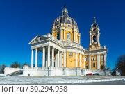 Купить «Image of the Basilica of Superga Turinin winter, Piedmont», фото № 30294958, снято 6 декабря 2017 г. (c) Яков Филимонов / Фотобанк Лори