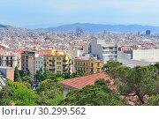 Top-view of Barcelona (2016 год). Стоковое фото, фотограф Татьяна Савватеева / Фотобанк Лори
