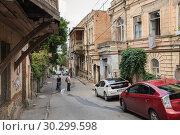 Купить «Street of old Tbilisi», фото № 30299598, снято 22 сентября 2018 г. (c) Юлия Бабкина / Фотобанк Лори