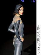 Купить «A model takes to the catwalk with a creation for Spring/Summer 2018 Collection of Andres Sarda label during the first day of the Madrid Fashion Week, in...», фото № 30304794, снято 15 сентября 2017 г. (c) age Fotostock / Фотобанк Лори