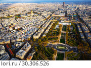 Купить «Panoramic view of Paris cityscape», фото № 30306526, снято 10 октября 2018 г. (c) Яков Филимонов / Фотобанк Лори