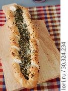 Купить «Pita bread with cheese and dill», фото № 30324234, снято 31 января 2015 г. (c) Stockphoto / Фотобанк Лори