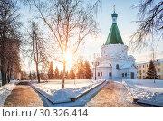 Купить «Архангельский собор в Нижегородском кремле», фото № 30326414, снято 6 января 2019 г. (c) Baturina Yuliya / Фотобанк Лори