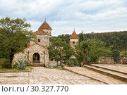 Купить «Motsameta Monastery or Monastery of the Holy Martyrs David and Constantine on a picturesque hill near Kutaisi, Georgia», фото № 30327770, снято 26 сентября 2018 г. (c) Юлия Бабкина / Фотобанк Лори