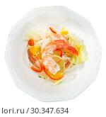 Top view of shrimp ceviche. Стоковое фото, фотограф Яков Филимонов / Фотобанк Лори