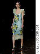 Купить «Mercedes-Benz Madrid Fashion Week - Duyos - Catwalk Featuring: Model Where: Madrid, Spain When: 18 Sep 2017 Credit: Oscar Gonzalez/WENN.com», фото № 30350354, снято 18 сентября 2017 г. (c) age Fotostock / Фотобанк Лори