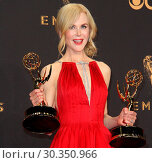 Купить «69th Emmy Awards 2017 Press Room held at the Microsoft Theatre L.A. LIVE in Los Angeles, California. Featuring: Nicole Kidman Where: Los Angeles, California...», фото № 30350966, снято 17 сентября 2017 г. (c) age Fotostock / Фотобанк Лори