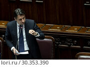 Купить «Italian Prime Minister Giuseppe Conte during his communication on the European Council and on Memorandum of understanding between Italian government and...», фото № 30353390, снято 19 марта 2019 г. (c) age Fotostock / Фотобанк Лори