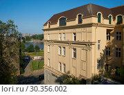 Купить «View on beautiful house of old Belgrade», фото № 30356002, снято 3 мая 2018 г. (c) Константин Гуща / Фотобанк Лори