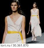 Купить «Madrid Fashion Week - Menchen Tomas - Catwalk Featuring: model Where: Madrid, Spain When: 16 Sep 2017 Credit: Oscar Gonzalez/WENN.com», фото № 30361870, снято 16 сентября 2017 г. (c) age Fotostock / Фотобанк Лори