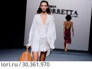 Купить «Mercedes-Benz Madrid Fashion Week - Roberto Torretta - Catwalk Featuring: Model Where: Madrid, Spain When: 16 Sep 2017 Credit: Oscar Gonzalez/WENN.com», фото № 30361970, снято 16 сентября 2017 г. (c) age Fotostock / Фотобанк Лори