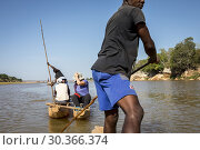 Купить «Canoe ride on the Manambolo river, in the Tsingy de Bemaraha National Park. Madagascar, Africa.», фото № 30366374, снято 24 июня 2019 г. (c) age Fotostock / Фотобанк Лори
