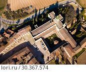 Купить «Aerial view of Monastery in Catalonia», фото № 30367574, снято 14 февраля 2019 г. (c) Яков Филимонов / Фотобанк Лори