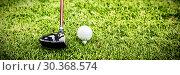 Купить «Male instructor assisting woman in learning golf», фото № 30368574, снято 16 ноября 2019 г. (c) Wavebreak Media / Фотобанк Лори