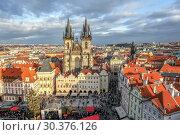 Купить «Прага. Церковь Святой Девы. Чехия», фото № 30376126, снято 17 декабря 2011 г. (c) Сергей Афанасьев / Фотобанк Лори