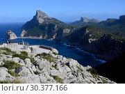 Spain, Mallorca- coastal landscape at the Cap de Formentor (2019 год). Редакционное фото, агентство Caro Photoagency / Фотобанк Лори