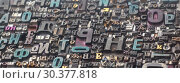 Купить «Старые металлические буквы, наборный шрифт», фото № 30377818, снято 23 марта 2019 г. (c) Ельцов Владимир / Фотобанк Лори