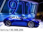Купить «Porsche 911 Carrera 4S», фото № 30388206, снято 10 марта 2019 г. (c) Art Konovalov / Фотобанк Лори