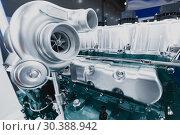 Купить «The car turbocharger.», фото № 30388942, снято 6 июня 2018 г. (c) Андрей Радченко / Фотобанк Лори