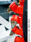 Купить «Powerful drilling tool. Screw drill, equipped with carbide-tipped elements and teeth», фото № 30388954, снято 6 июня 2018 г. (c) Андрей Радченко / Фотобанк Лори