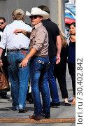 Купить «Justin Moore arrives at the Jimmy Kimmel studio for an appearance and concert on Jimmy Kimmel Live! Featuring: Justin Moore Where: Hollywood, California...», фото № 30402842, снято 1 августа 2017 г. (c) age Fotostock / Фотобанк Лори