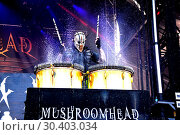 Купить «Chicago Open Air 2017 Festival at Toyota Park in Bedford Park Featuring: Mushroomhead Where: Bridgeview, Illinois, United States When: 16 Jul 2017 Credit: Adam Bielawski/WENN.com», фото № 30403034, снято 16 июля 2017 г. (c) age Fotostock / Фотобанк Лори