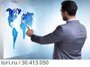 Купить «Businessman in futuristic stock trading concept», фото № 30413050, снято 18 января 2020 г. (c) Elnur / Фотобанк Лори