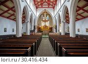 Купить «The interior of the nave of St Matthew's Church. Sheffield. South Yorkshire. England», фото № 30416434, снято 8 мая 2009 г. (c) Serg Zastavkin / Фотобанк Лори