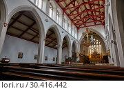 Купить «The interior of the nave of St Matthew's Church. Sheffield. South Yorkshire. England», фото № 30416442, снято 8 мая 2009 г. (c) Serg Zastavkin / Фотобанк Лори