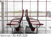 Купить «empty seats at airport terminal», фото № 30435526, снято 10 февраля 2014 г. (c) Syda Productions / Фотобанк Лори