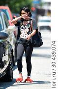 Купить «Vanessa Hudgens leaves the gym wearing fuzzy red slippers Featuring: Vanessa Hudgens Where: Los Angeles, California, United States When: 19 Jul 2017 Credit: WENN.com», фото № 30439074, снято 19 июля 2017 г. (c) age Fotostock / Фотобанк Лори